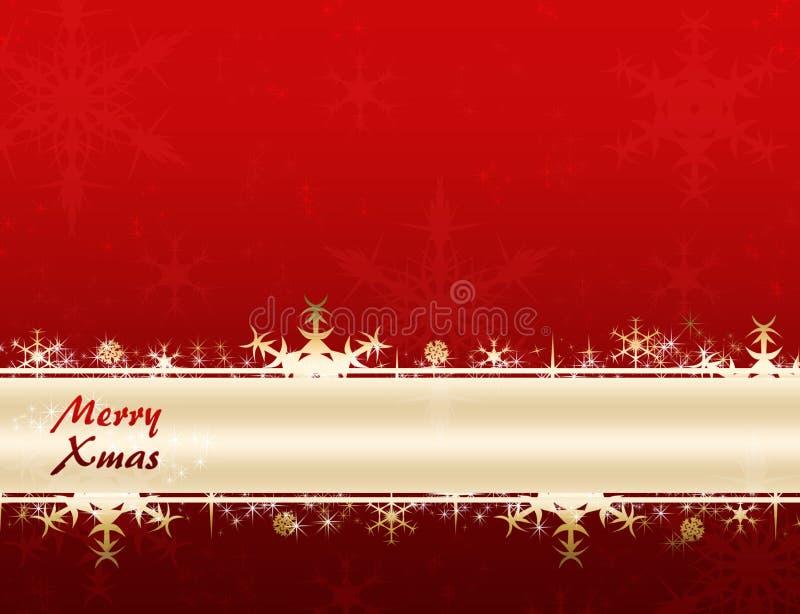 Fröhliche Weihnachtsfahne stock abbildung