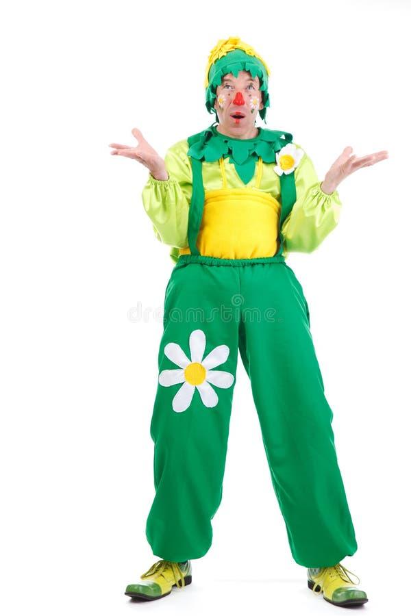 Fröhlicher Clown stockfoto