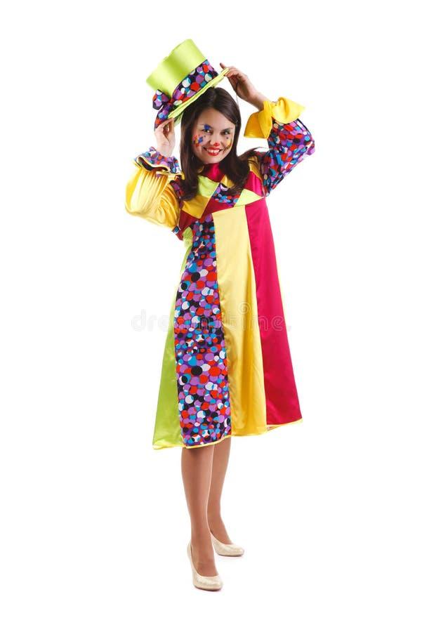 Fröhlicher Clown stockbilder