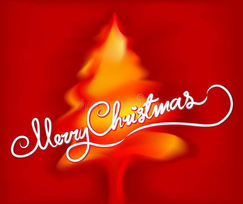 Fröhlicher Weihnachtsbaum stock abbildung
