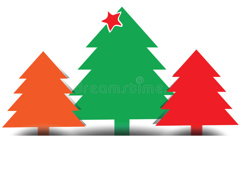 Fröhlicher Weihnachtsbaum, Vektor vektor abbildung