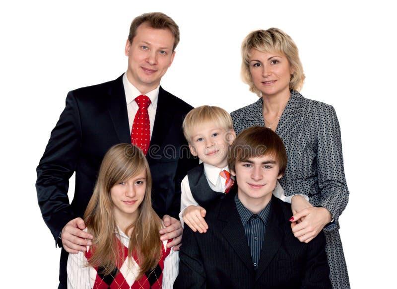 Fröhliches großes Familienportrait stockfotografie