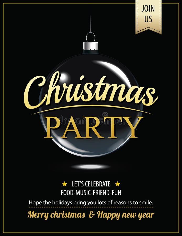 Fröhliches Weihnachtsfestplakat der Einladung und Kartendesignschablone stock abbildung