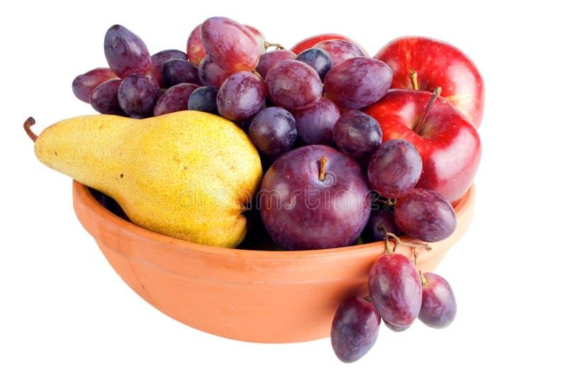 Früchte in der Schüssel stockbild