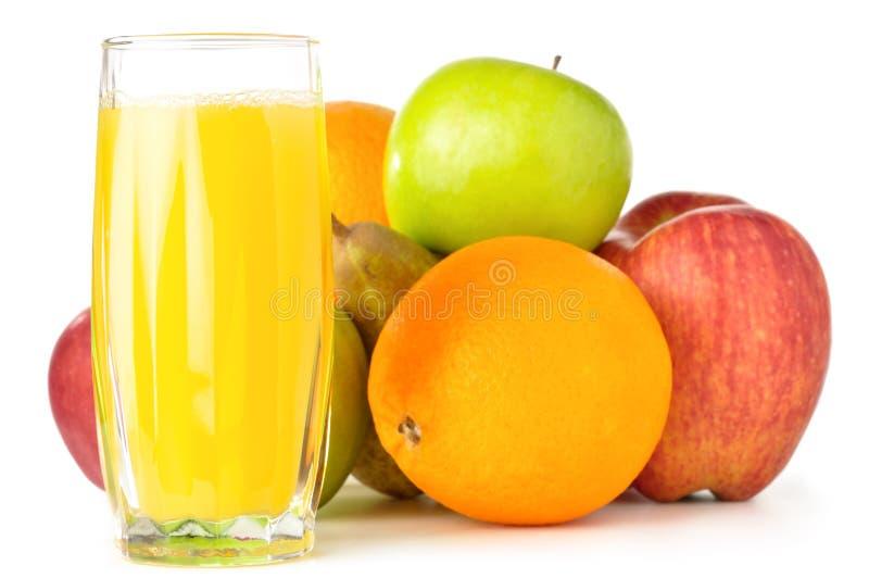 Früchte mit Saft lizenzfreies stockfoto