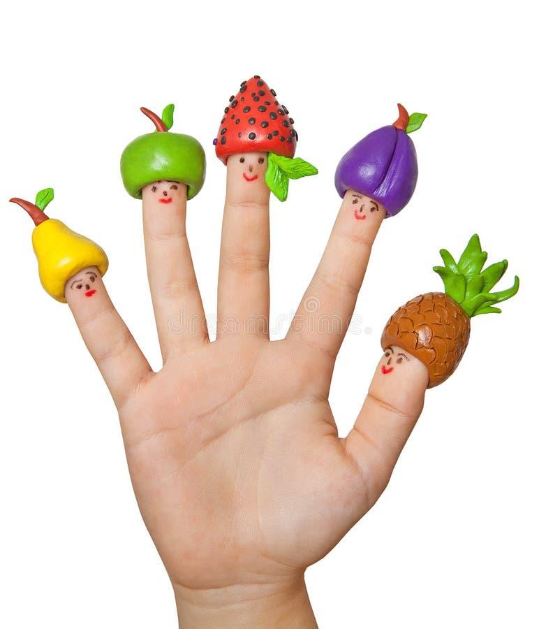 Früchte und Beeren von Lehm ` s Hand Kind-` s Kreativität lizenzfreies stockbild
