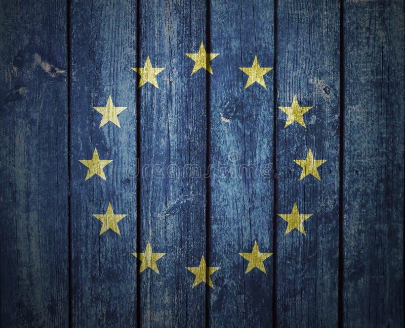 Frühe europäische Flagge stock abbildung