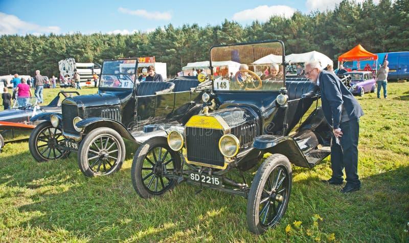 Frühe Ford-Autos an Roseisle-Sammlung lizenzfreie stockbilder
