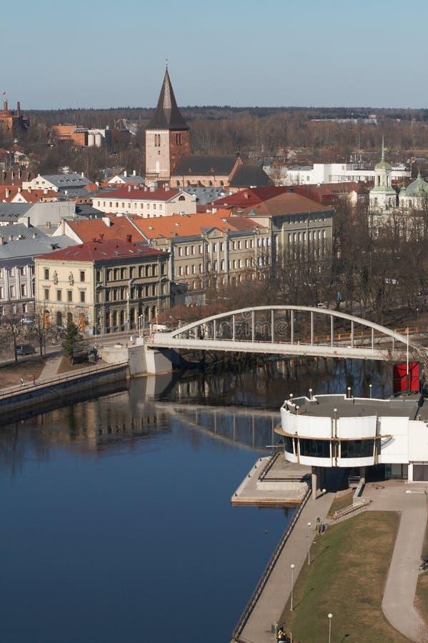 Früher Frühling in Tartu lizenzfreies stockfoto