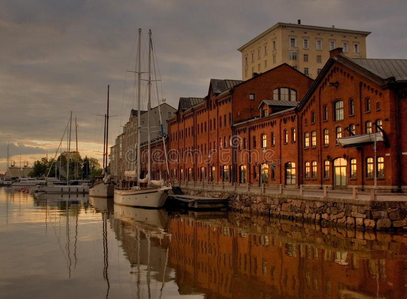 Früher Morgen in Helsinki stockbilder