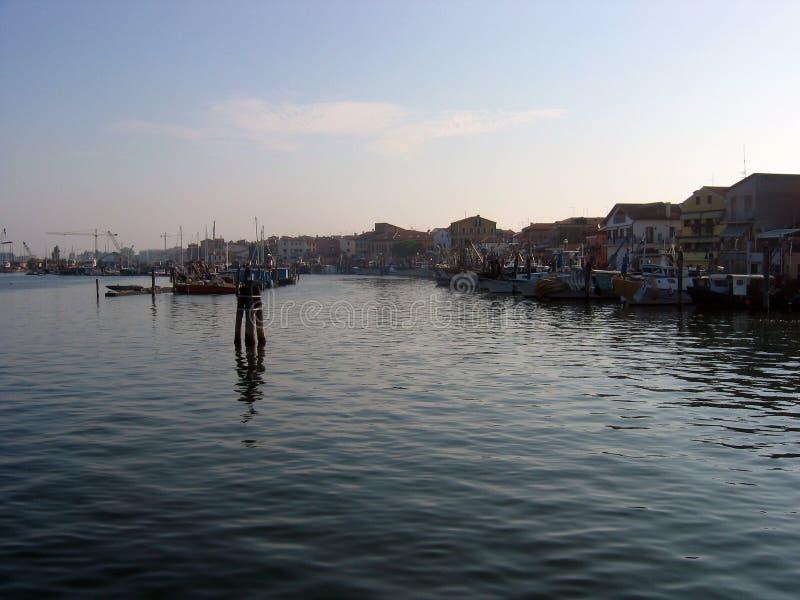 Früher Morgen im Golf von Venedig lizenzfreie stockfotografie