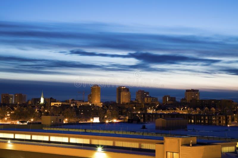 Früher Morgen in Milwaukee stockbilder