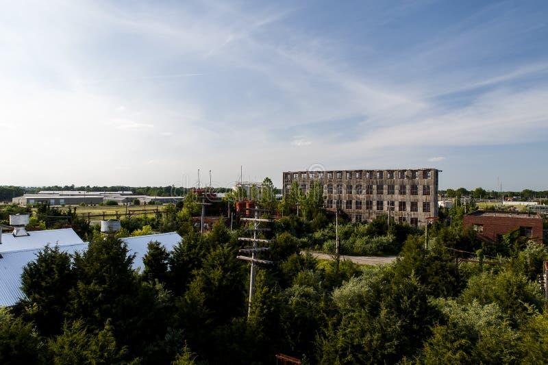 Früher Morgen sieht - Indiana Army Ammunition Depot - Indiana an lizenzfreie stockbilder