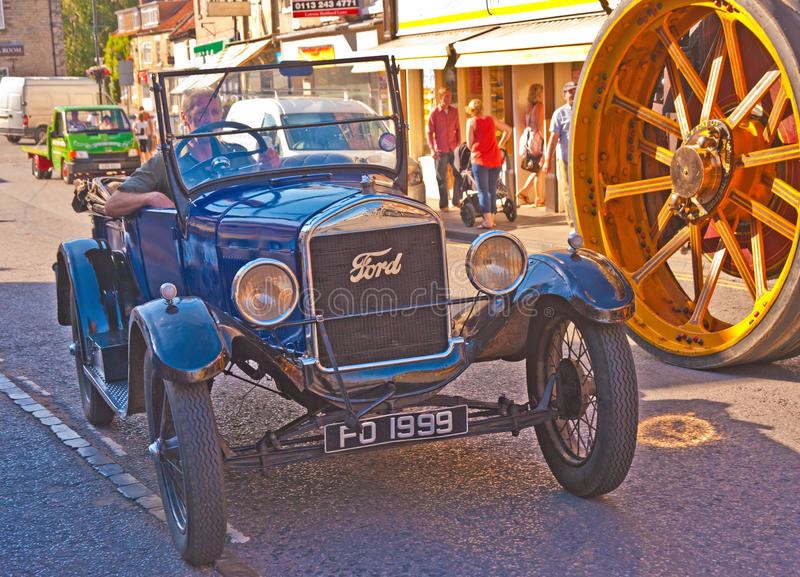 Frühes Ford-Auto bei Pickering stockbild