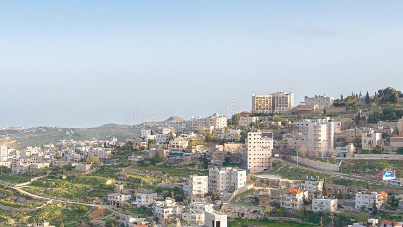 Frühes Licht an Mt Herodian, Bethlehem, Westjordanland, Palästina, ist stockbild
