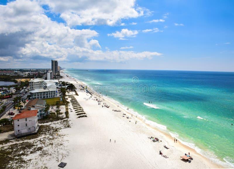 Frühjahrsferien-Luft-Panama-Stadt Strand, Florida, USA stockbild