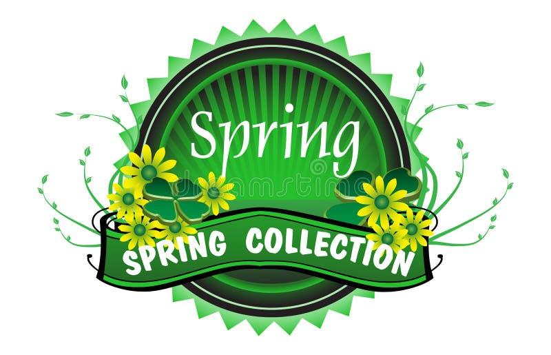 Frühjahrskollektionsausweis lizenzfreie abbildung