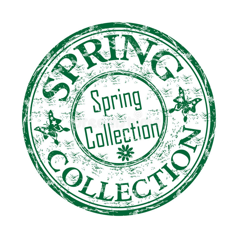 Frühjahrskollektionsstempel lizenzfreie abbildung