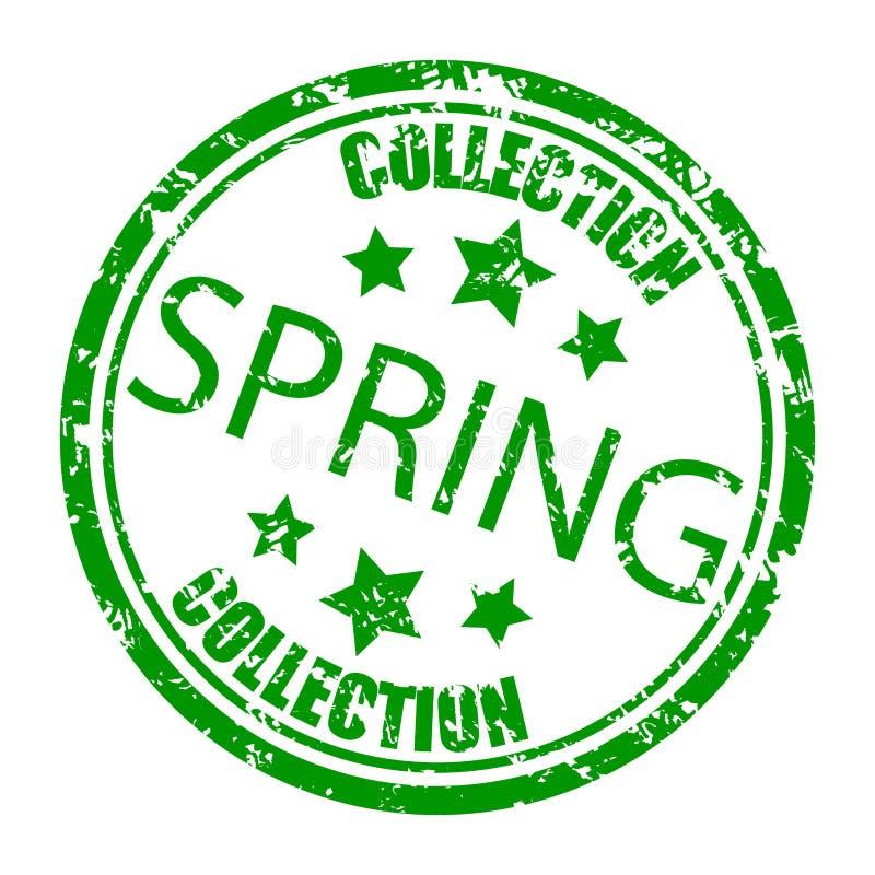 Frühjahrskollektionsstempel, Konzeptverbraucherschutzbewegungsvektor vektor abbildung