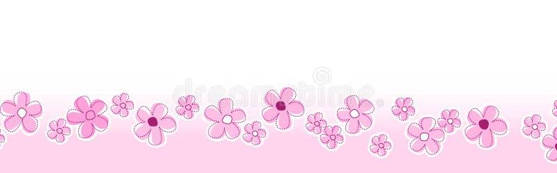 Frühling blüht Seitenende/Vorsatz stock abbildung