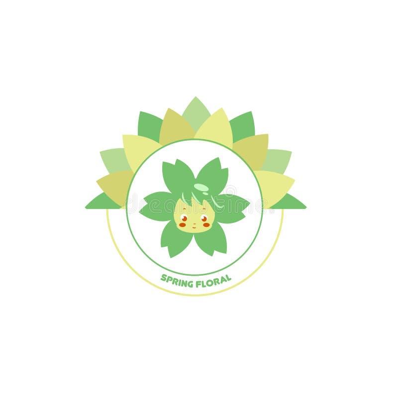 Frühling Blumen-Logo Vector Art Logoschablone für Ihr Geschäft vektor abbildung