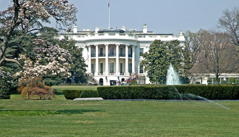 Frühling am Weißen Haus   lizenzfreies stockfoto