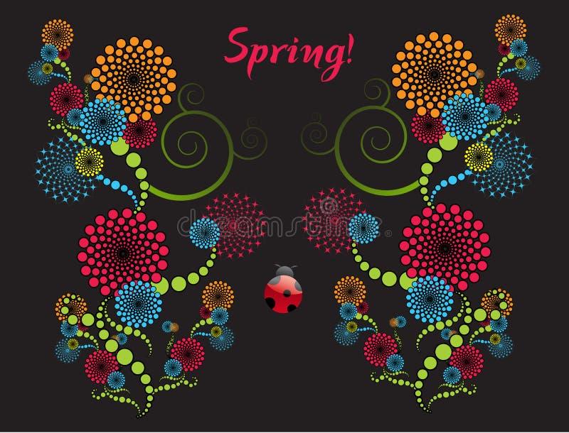 Frühlings-Auszug stock abbildung