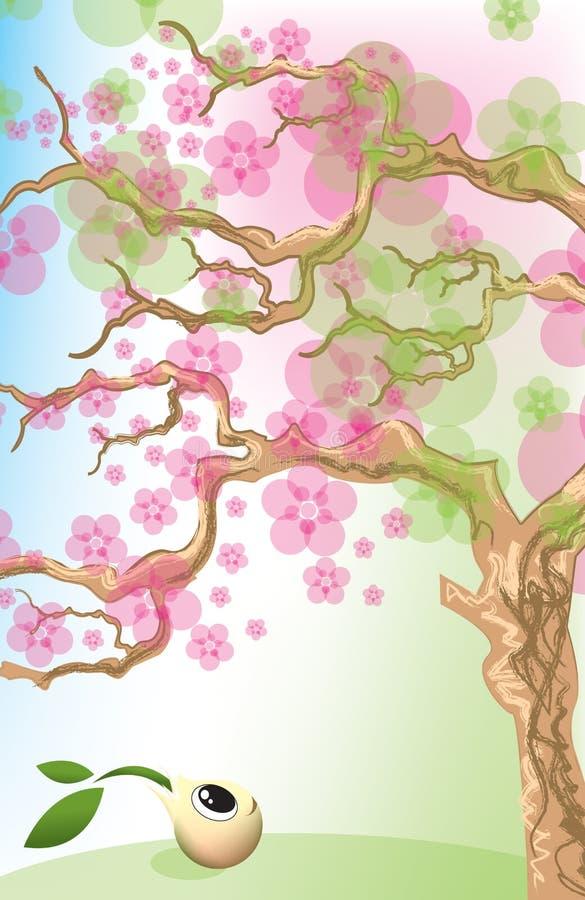Frühlings-Blumen und wenig Startwert für Zufallsgenerator lizenzfreie abbildung
