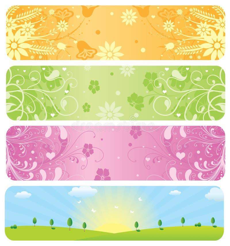 Frühlings-Fahnen stock abbildung