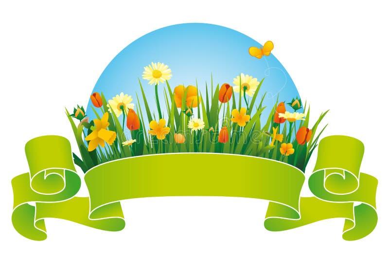 Frühlings-Farbband lizenzfreie abbildung