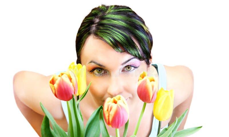 Frühlings-Frau stockbilder