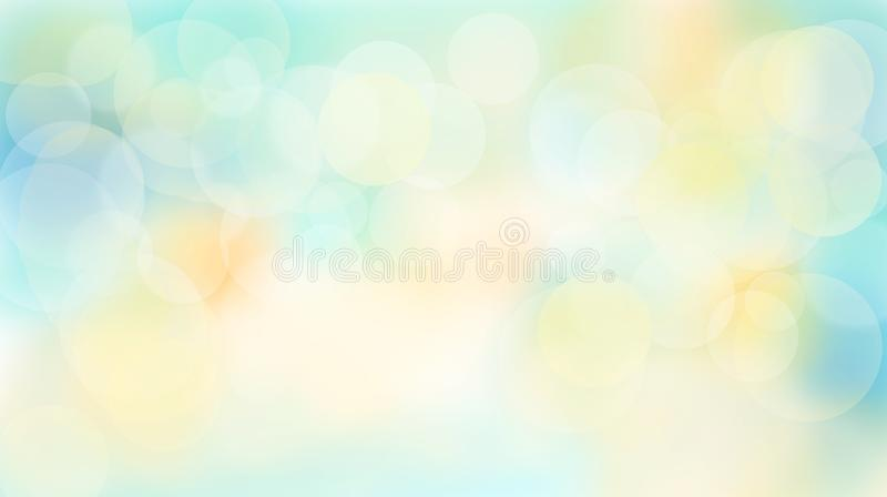 Abstract Multicolored summery bokeh background royalty free illustration