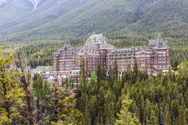 Frühlings-Hotel II Fairmont Banff lizenzfreie stockfotografie