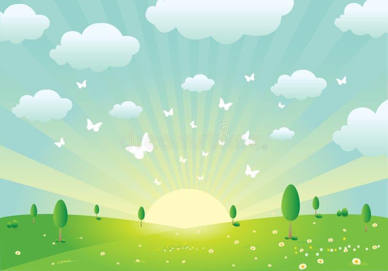 Frühlings-Landschaft lizenzfreie abbildung