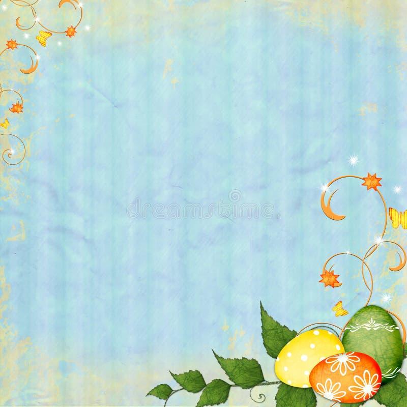 Frühlings- oder Ostern-Hintergrund stockfotografie