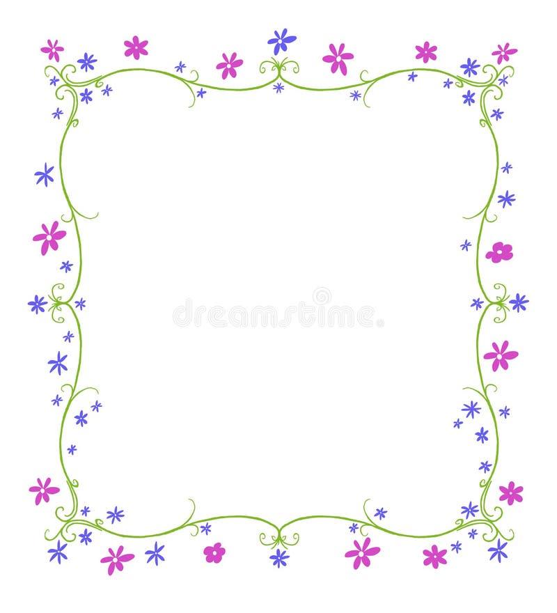Frühlings-oder Sommer-Rahmen Von Blumen Stock Abbildung ...