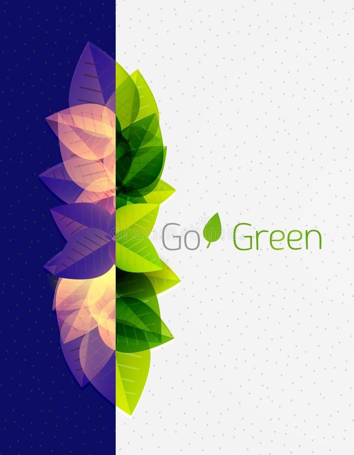 Frühlings-/Sommergrün lässt Naturhintergrund lizenzfreie abbildung