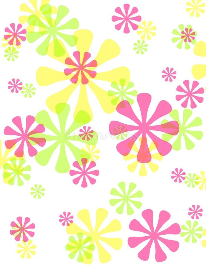 Frühlings-undurchlässiger Retro- Blumen-Hintergrund lizenzfreie abbildung