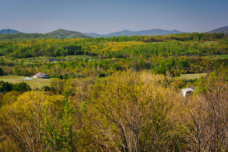 Frühlingsansicht des Appalachens von einer Unterlassung auf I-6 stockbilder