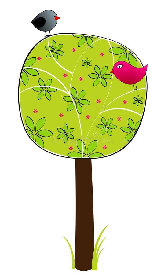 Frühlingsbaum lizenzfreie abbildung