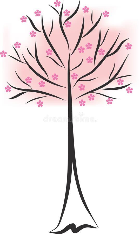 Frühlingsbaum stock abbildung