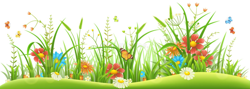 Frühlingsblumen und -gras stock abbildung