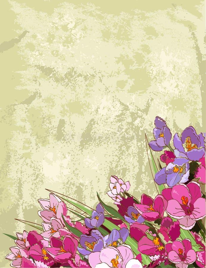 Frühlingsblumenauslegung lizenzfreie abbildung