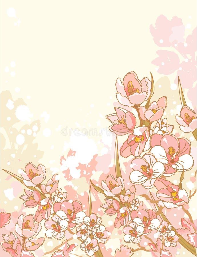 Frühlingsblumenauslegung vektor abbildung
