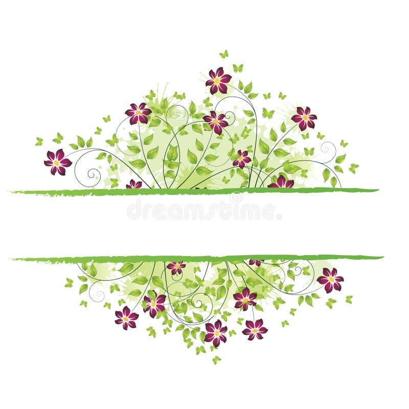 Frühlingsblumenfeld vektor abbildung