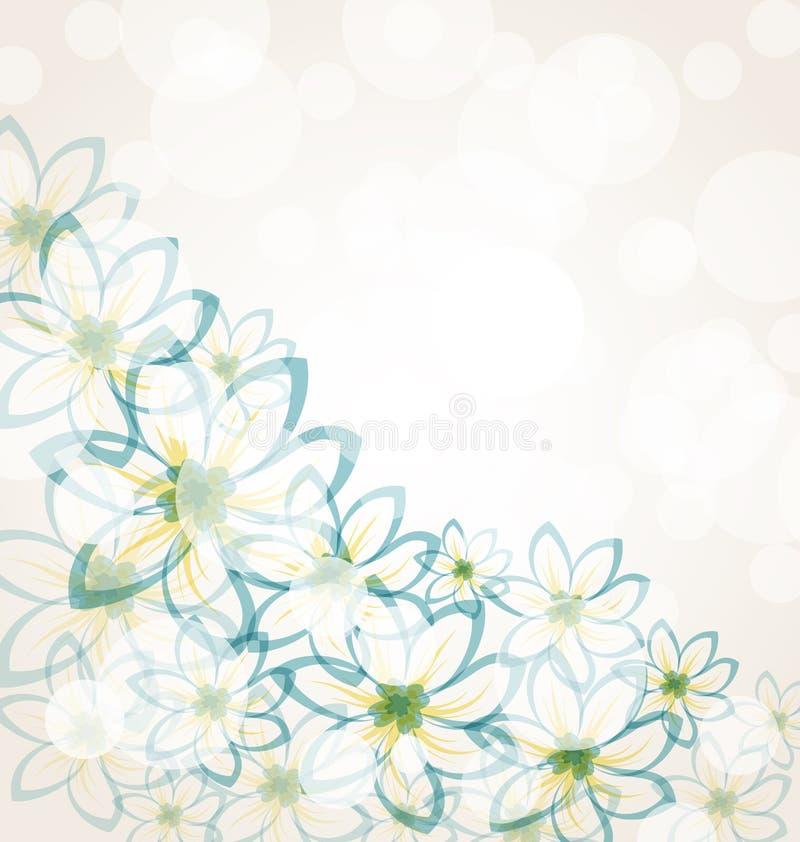 Frühlingsblumenhintergrund vektor abbildung