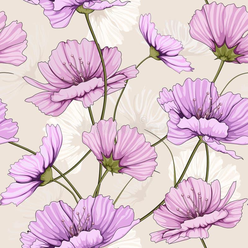 Frühlingsblumenmuster lizenzfreie abbildung