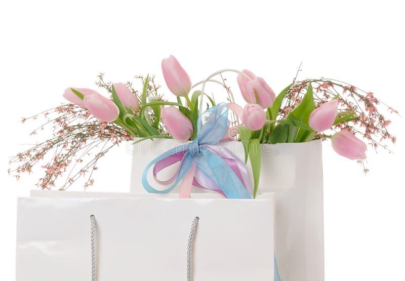 Frühlingseinkaufen stockfoto