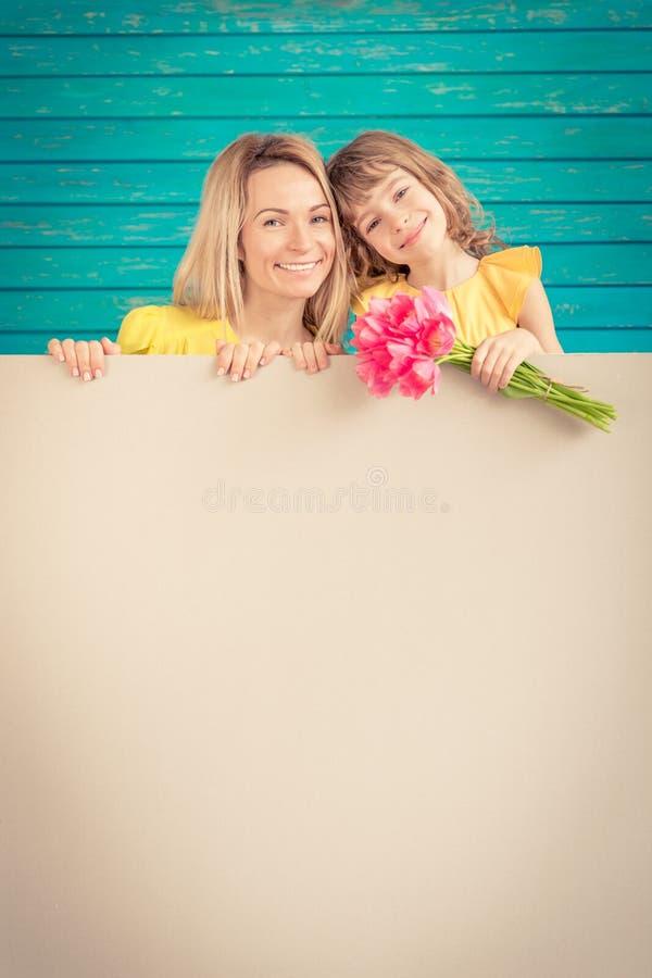 Frühlingsfeiertag Mutter ` s Tageskonzept stockfotografie