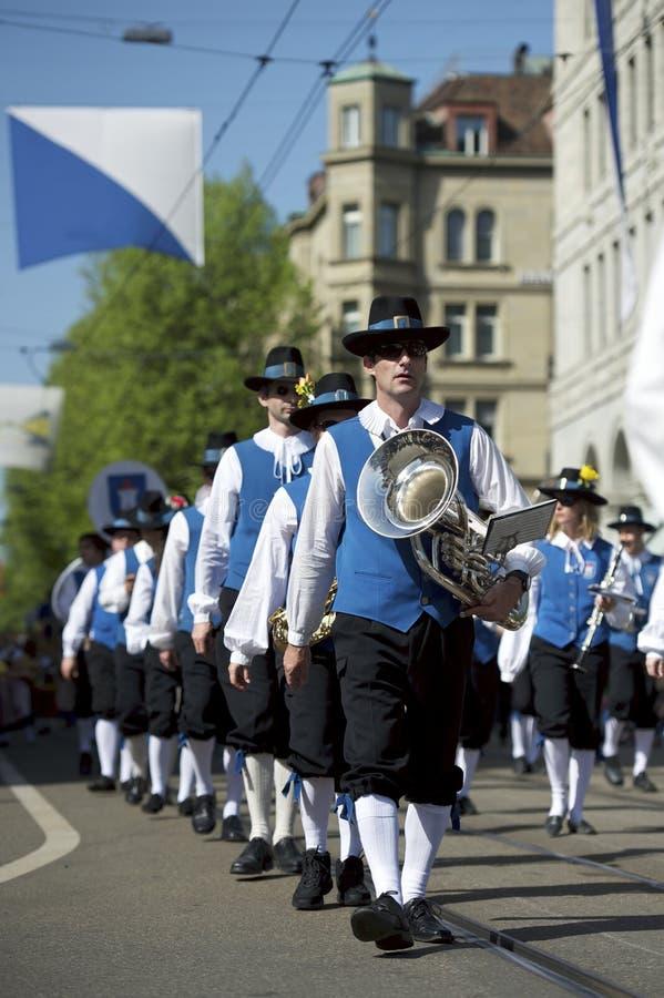 Frühlingsfestivalparade, Zürich, die Schweiz stockbild